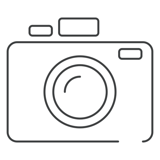 Photo camera stroke icon Transparent PNG