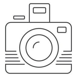 Ícone de traçado da câmera fotográfica