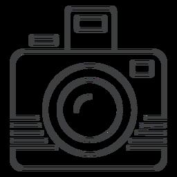 Icono de trazo de cámara fotográfica