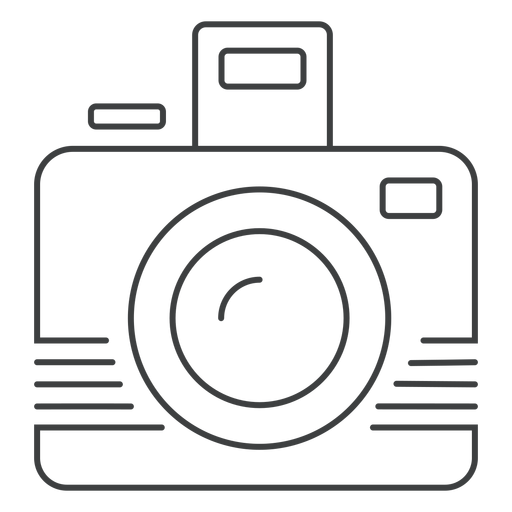 Photographic camera stroke icon Transparent PNG