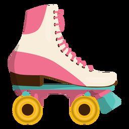 Pink roller skate shoe