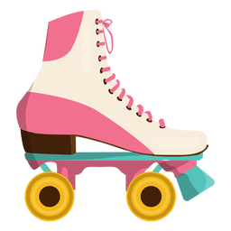 Sapato de skate de rolo rosa