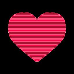 Etiqueta de coração de listras cor-de-rosa