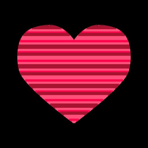 Pegatina corazon rayas rosa Transparent PNG