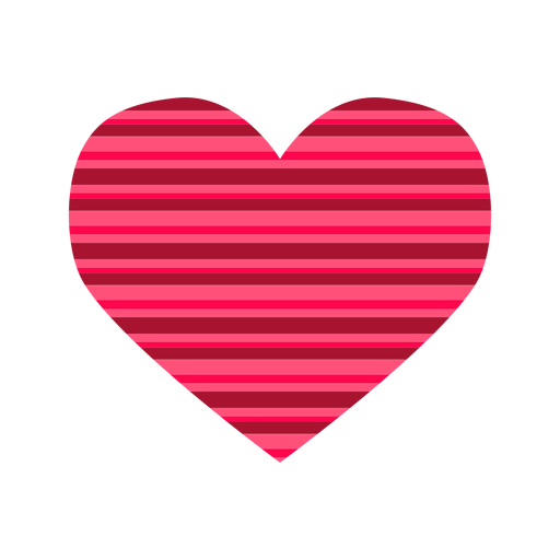 Pink stripes heart sticker Transparent PNG