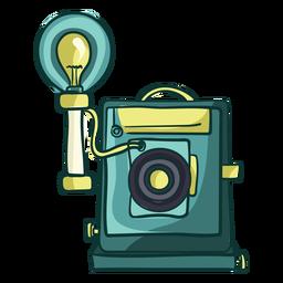 Dibujos animados de cámara de placa