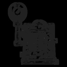 Bosquejo de cámara de placa