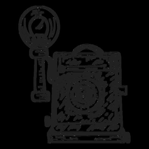 Boceto de la camara Transparent PNG