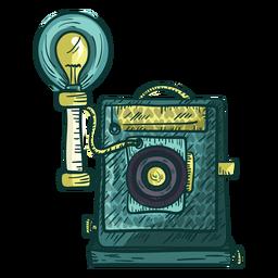 Icono de boceto de cámara de placa