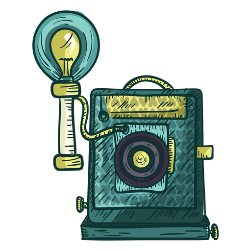 Plate camera sketch icon Transparent PNG