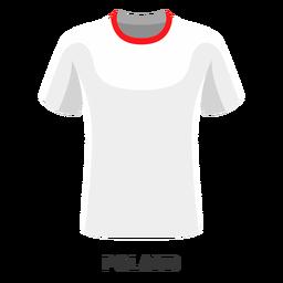 Dibujos animados de camiseta de fútbol de la copa mundial de polonia