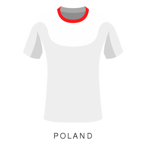 Desenhos animados da camisa do futebol do campeonato do mundo de Poland Transparent PNG