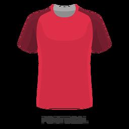 Dibujos animados de camiseta de fútbol de la copa mundial de portugal