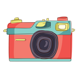 Rangefinder camera cartoon