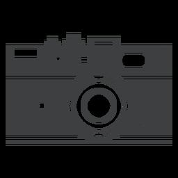 Ícone cinza da câmera rangefinder