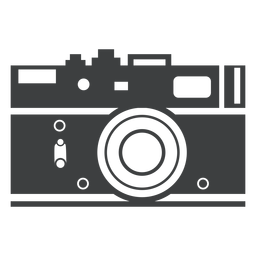 Rangefinder camera grey icon