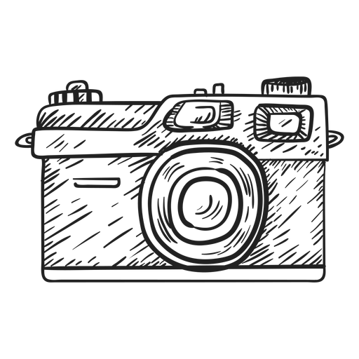 Esboço da câmera rangefinder Transparent PNG