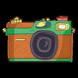 Icono de boceto de cámara de telémetro