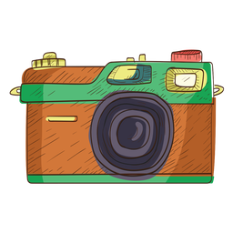 Rangefinder camera sketch icon