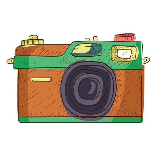 Rangefinder camera sketch icon Transparent PNG