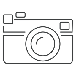 Icono de trazo de cámara de telémetro