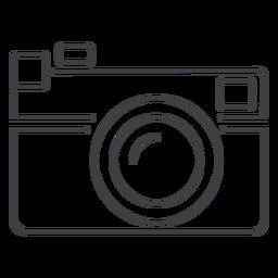 Icono del trazo de la cámara del telémetro