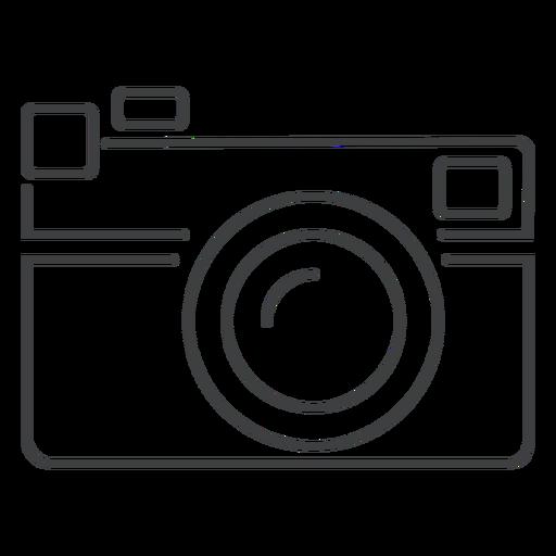 Rangefinder camera stroke icon Transparent PNG