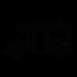 Icono plano de vehículo recreativo