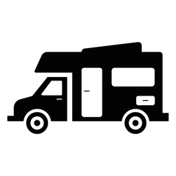 Recreational vehicle flat icon