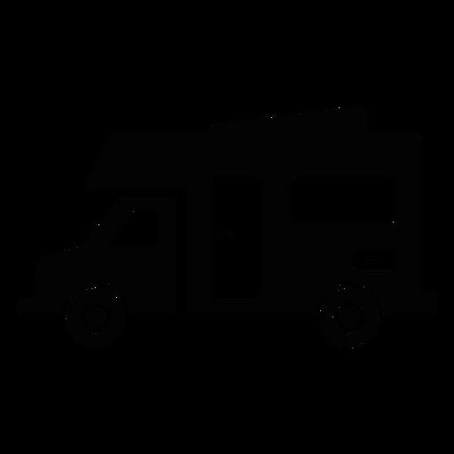 Recreational vehicle flat icon