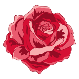Icono de rosa floreciente rojo