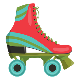 Sapato vermelho para patins