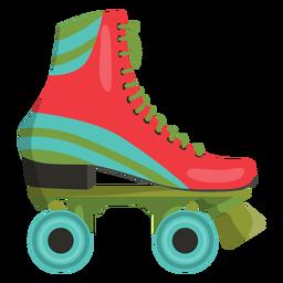 Zapato patín de ruedas rojo