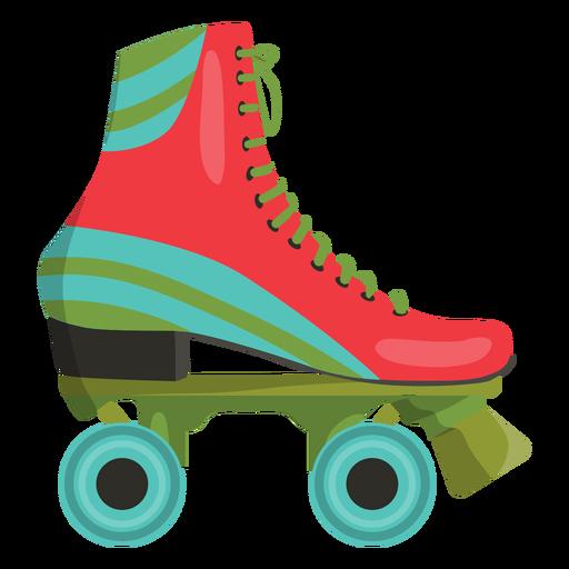 Red roller skate shoe