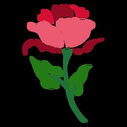 Icono de tallo de rosa roja
