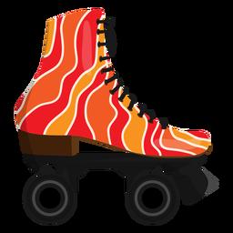 Zapato ondulado rojo del patín de ruedas