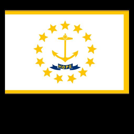Bandeira do estado de Rhode island Transparent PNG