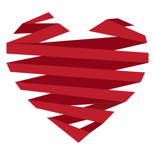 Ribbon wrapped heart sticker Transparent PNG