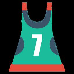 Ícone de roupa de patins de patins