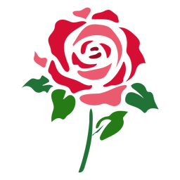Abstract rose icon flower