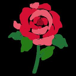 Flor de ícone rosa abstrata