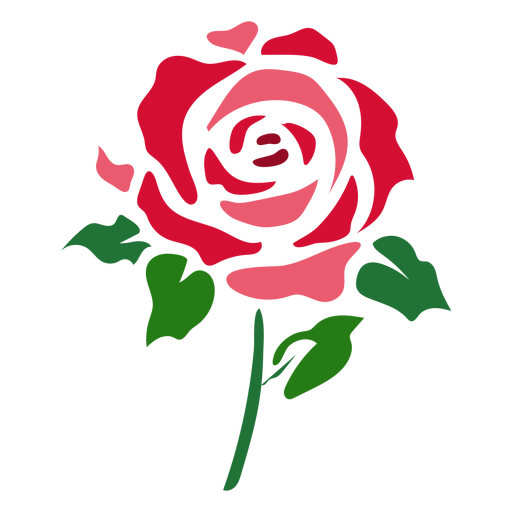 Abstract rose icon flower Transparent PNG