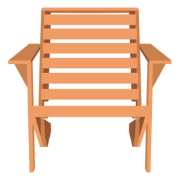 Adirondack armchair illustration