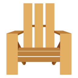 Adirondack chair front view