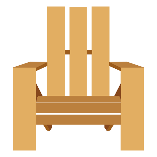 Adirondack chair front view Transparent PNG