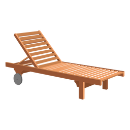 Adirondack sun lounger illustration