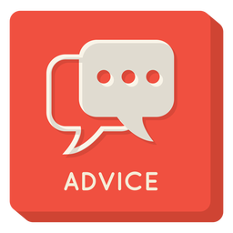 Advice square icon