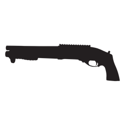 Agm escopeta gris silueta