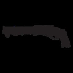 Agm shotgun grey silhouette
