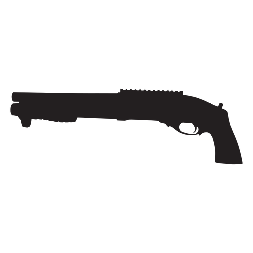 Agm shotgun grey silhouette Transparent PNG